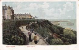 AO96 Folkestone, Madeira Walk - 1904 Postcard - Folkestone