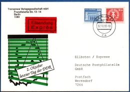 DDR  - East Germany - 1990 October 2, Last Day Express Mail From Berlin To Wermsdorf - [6] Repubblica Democratica
