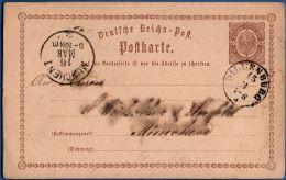 Germany Empire - 1874 ½ Gr. Postcard From Dillenburg To München - Gebraucht