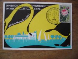 1962 Expo Philatélique Enghien Les Bains Station Thermale De Paris - Marcophilie (Lettres)