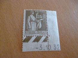 TP France Sans Charnière  N°287 Valeur 215€ Bord De Feuille Coin Daté - Frankrijk