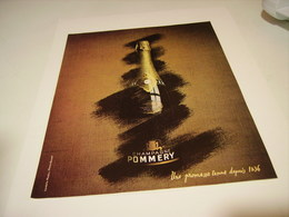 ANCIENNE PUBLICITE LE CHAMPAGNE POMMERY  1978 - Alcohols