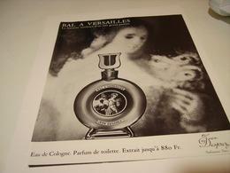 ANCIENNE PUBLICITE PARFUM EAU DE COLOGNE BAL A VERSAILLE DE JEAN DESPRET 1973 - Perfume & Beauty