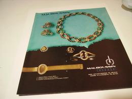 ANCIENNE PUBLICITE JOALLIER M. MAUBOUSSIN 1973 - Bijoux & Horlogerie