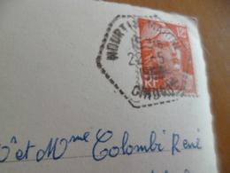 Sur CPA Contaut Hourtin Cachet Héxagonal Hourtin Marine Gironde 22/05/1953 - Storia Postale