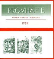 (L370) Suède Essai Carnet N° 1822, Avec 3 Timbres (explorateurs, Europa) De 1994 Avec Gravure Uniquement En Vert-gris - Booklets