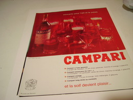ANCIENNE PUBLICITE CAMPARI APERITIF 1973 - Alcohols