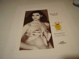 ANCIENNE AFFICHE  PUBLICITE PARFUM CALECHE DE HERMES 1994 - Parfums & Beauté