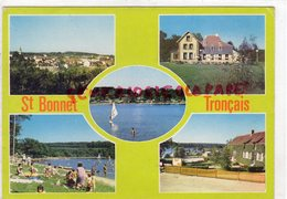 03- SAINT BONNET TRONCAIS- VUE GENERALE- HOTEL RESTAURANT LE TRONAIS-ETANG-PLAGE CAMPING - Autres Communes