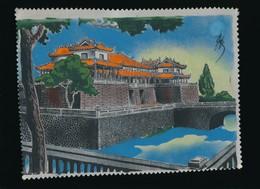 Indochine - Asie - Vietnam - Art Asiatique - Peinture Sur Soie Originale - Signée - Années 50 - à Encadrer - Asian Art