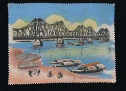 Indochine - Asie - Vietnam - Art Asiatique - Peinture Sur Soie Originale - Signée - Années 50 - à Encadrer - Arte Asiatica