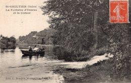 V15199 Cpa 36 St Gaultier - La Fontaine D'Usseau Et La Creuse - Frankreich
