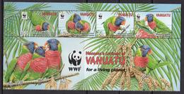Vanuatu MNH Michel Nr 1443/46 From 2011 WWF / Catw 7.50 EUR - Vanuatu (1980-...)
