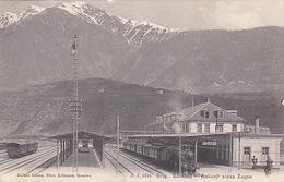 Brig - Bahnhof Mit Dampfzug - 1907        (P-152-60911) - VS Valais