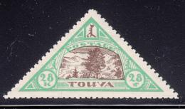 Tannu Tuva 1927 MH Scott #24 28k Tree, Mountains, River Landscape - Tuva