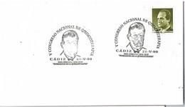 29091. Carta CADIZ 1999, Congreso Quimioterapia. Paul EHRLICH - 1931-Hoy: 2ª República - ... Juan Carlos I