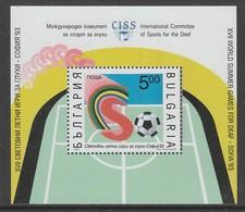 "BLOC NEUF DE BULGARIE - ""SOFIA'93"", JEUX SPORTIFS INTERNATIONAUX DES MALENTENDANTS N° Y&T 178 - Handisport"