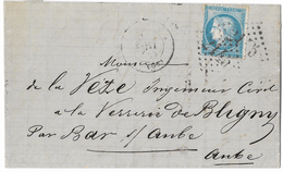 LETTRE Avec N° 60/1 ;141 A2  6 ème état  TTB - 1871-1875 Cérès