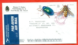 USA 2000. Insects. Fauna. The Envelope Is Really Past Mail.Airmail. - Other