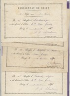 Vieux Papiers - Diplôme - Pensionnat De Briey - 4 Diplômes Accessit De 1891/92 - Diplômes & Bulletins Scolaires