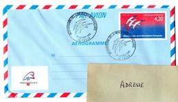 REVOLUTION = 19 TULLE 1989 = CACHET Illustré PREMIER JOUR  N° 1017 AER (entier Aérogramme) BICENTENAIRE - FDC