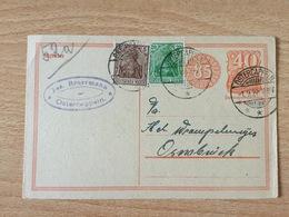 K5 Deutsches Reich Ganzsache Stationery Entier Postal P 153I Von Osterkappeln Nach Osnabrück - Deutschland