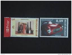 België Belgique Italie Italia 2003 Europalia Georgio Morandi Porcelaine Pinin Farina Auto 3205-3206 Yv 3194-3195 MNH ** - Bélgica