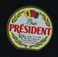 Etiquette Fromage  Brie Président 50%mg - Formaggio