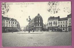 Roubaix,Grande Place Et Rue De La Gare - Roubaix