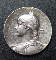 """Belle Médaille Religieuse Argent """"Jeanne D'Arc - Domrémy - Orléans - Rouen"""" Silver Religious Medal - Religión & Esoterismo"""