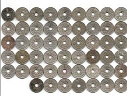 Lot 52 Pièces De Monnaie 25 Centimes Lindauer De 1920 à 1939 - France
