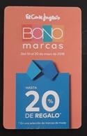 ESPAÑA TARJETA BONO MARCAS EL CORTE INGLÉS. - Otros