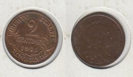 FRANCE  2 Centimes 1911 Dupuis 2c - France