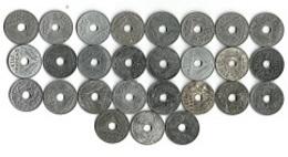 Lot 27 Pièces De Monnaie 20 Centimes Zinc 1941-42- 43 - France