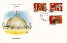 SRI LANKA  WESAK HOLIDAY  1984  FDC107 - Sri Lanka (Ceylon) (1948-...)