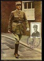 1972 - France Max.Card Mi. 1772 - Exposition Timbres De La Liberation [A40_72] - De Gaulle (Generaal)