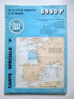 CARTE MARINE 6990P DE LA PTE DE PENMARC'H A LA GIRONDE - Nautical Charts