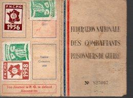 Bordeaux (33 Gironde) Carte FEDERATION NATIONALE COMBATTANTS ET PRISONNIERS DE GUERRE (PPP13538) - Vieux Papiers