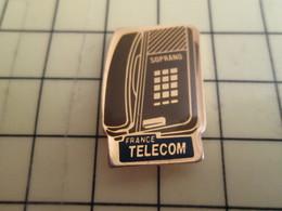 Sp16 Pin's Pins : Rare Et Belle Qualité  FRANCE TELECOM / TELEPHONE SOPRA?O - France Telecom