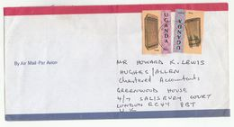 Air Mail UGANDA COVER Traditional  MUSICAL INSTRUMENTS Stamps To GB  Music - Ouganda (1962-...)