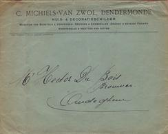 Gelopen Briefomslag Van/Enveloppe Voyagée De ## C. MICHIELS-VAN ZWOL, Dendermonde ## Aan/vers  ## Mr. Hector DU BOIS,.. - Belgium