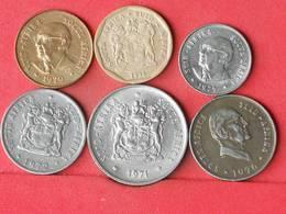 SOUTH AFRICA    - LOT 6 COINS - 2 SCANS  - (Nº10771) - Südafrika