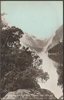 Looking Up Milford Sound, New Zealand, C.1905-10 - Postcard - New Zealand