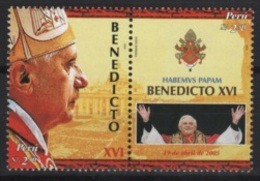 Peru (2006) Yv. 1514/15  /  Pope Benedict XVI - Ratzinger - Papst Benedikt - Benedicto - Pausen