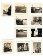 LIEGE 1951 = Lot De 10 Petites Photos D'amateur ( +/- 4,5 X 6 Cm ) - Meuse, Quai, Péniche, Bâtiment,... B157 - Luoghi