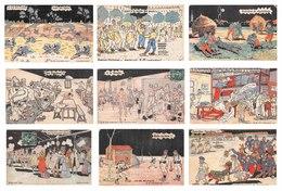 Lot De 31 CPA De Scènes Militaires - Illustrations Humour Soldats Militaria Caserne - Humoristiques
