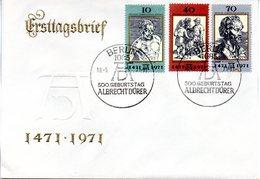 """DDR Schmuck-FDC Mi 1672/74 """"500. Geburtstagag Von Albrecht Dürer"""" ESSt 18.5.71 BERLIN                        1 - Künste"""