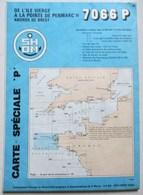 CARTE MARINE 7066 P DE L ILE VIERGE A LA POINTE DE PENMARC'H ABORDS DE BREST ILE OUESSANT - Nautical Charts
