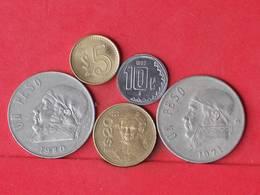 MEXICO    - LOT 5 COINS - 2 SCANS  - (Nº10775) - Mexiko