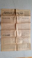 JOURNAL L'ARTISAN FRANCAIS 01 FEVRIER 1943  DOUBLE  FEUILLE - Journaux - Quotidiens